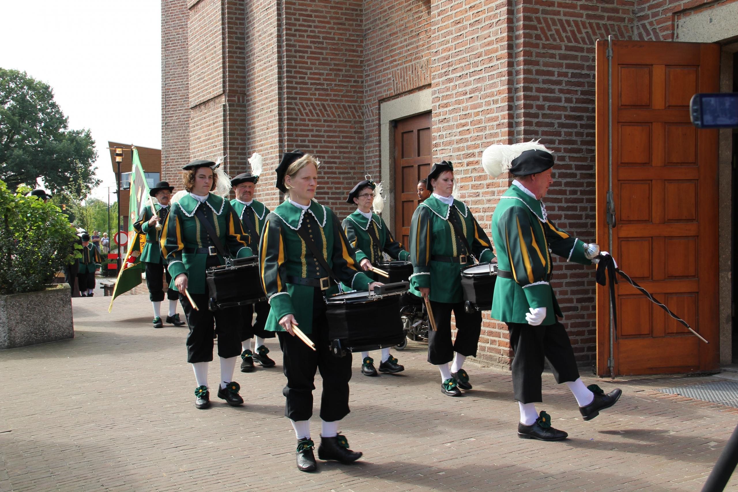 Begrafenis drumband