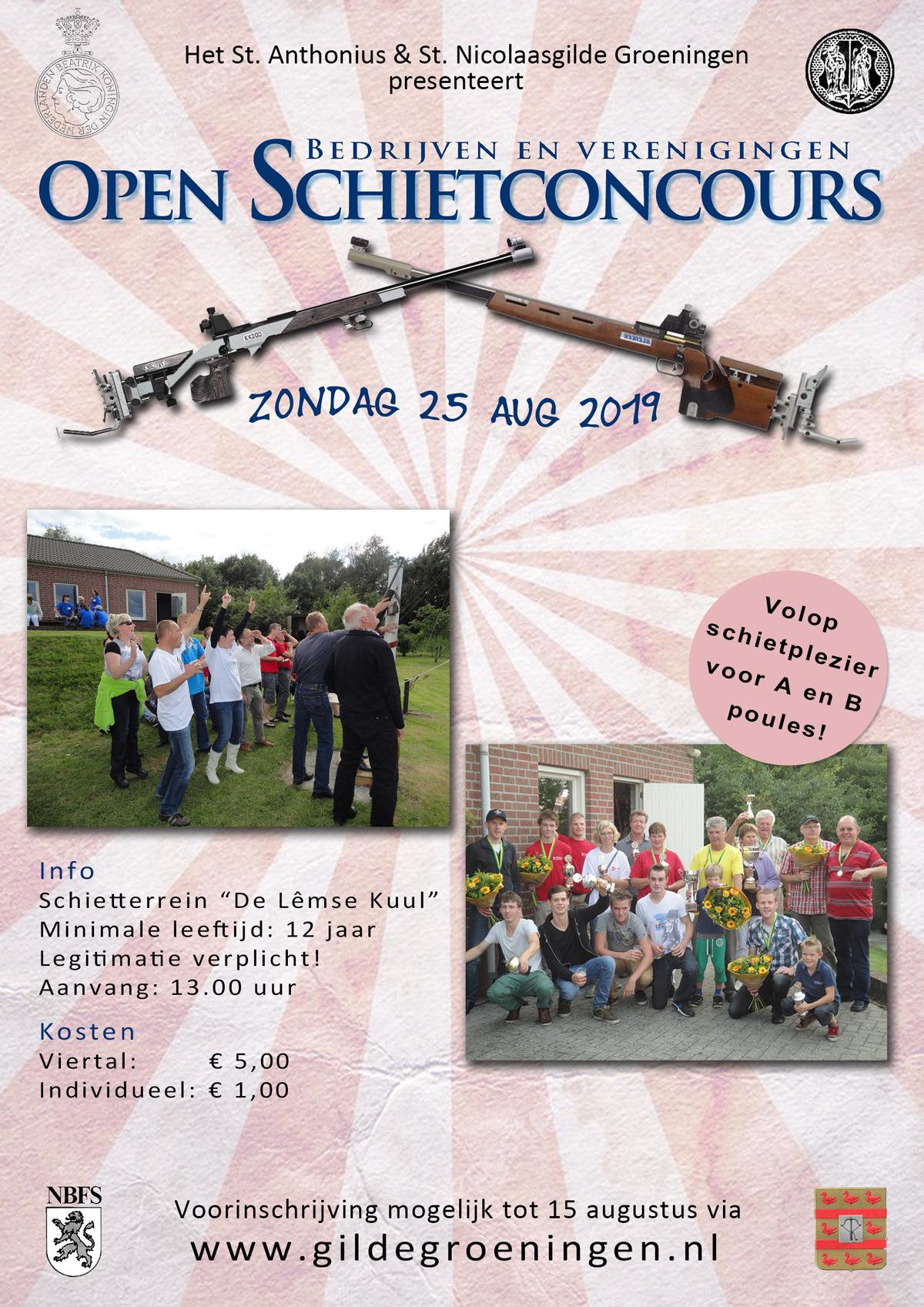 Open Schietconcours Poster 2019